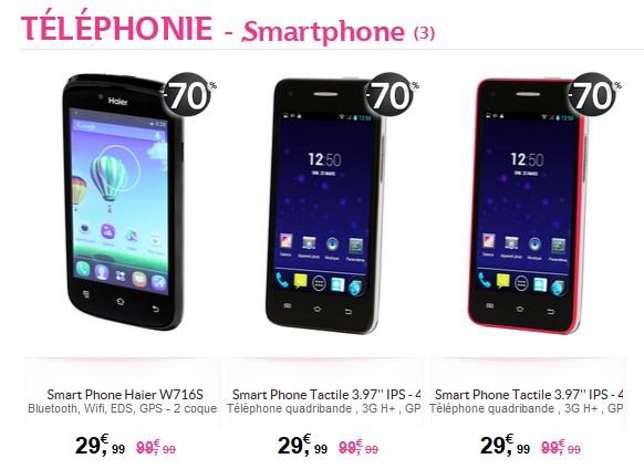 smartphone solde