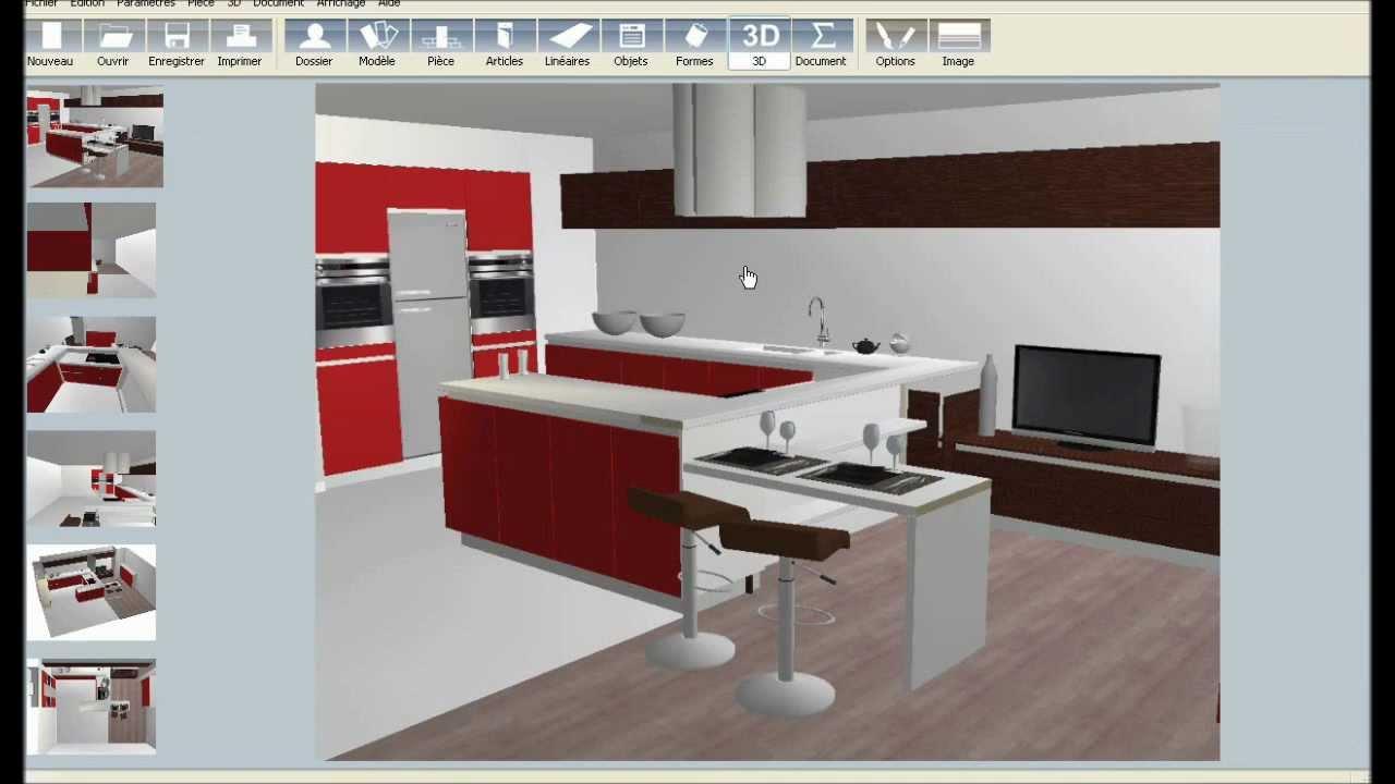 logiciel cuisine 3d gratuit