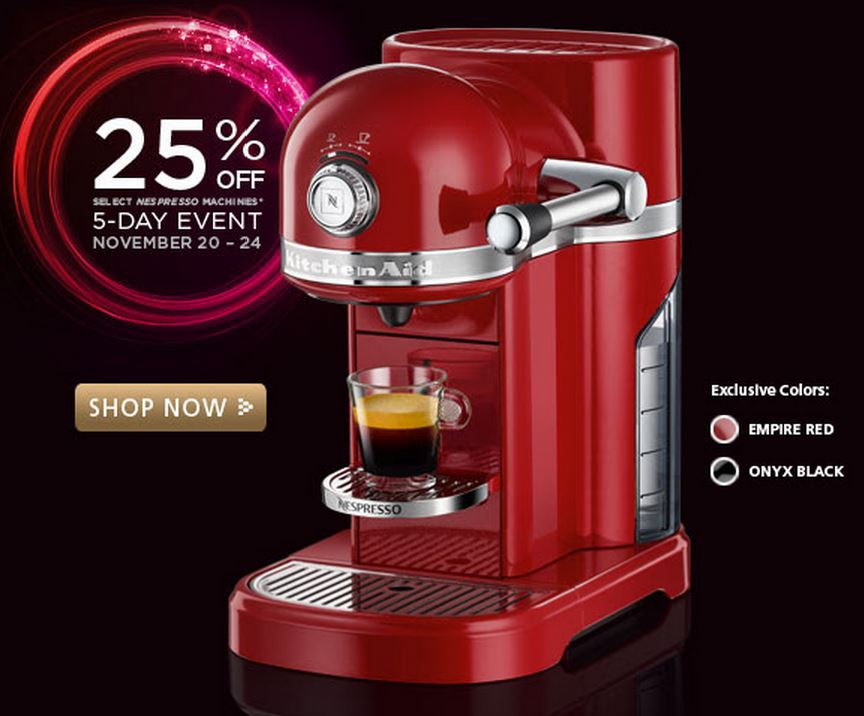 machine nespresso promo