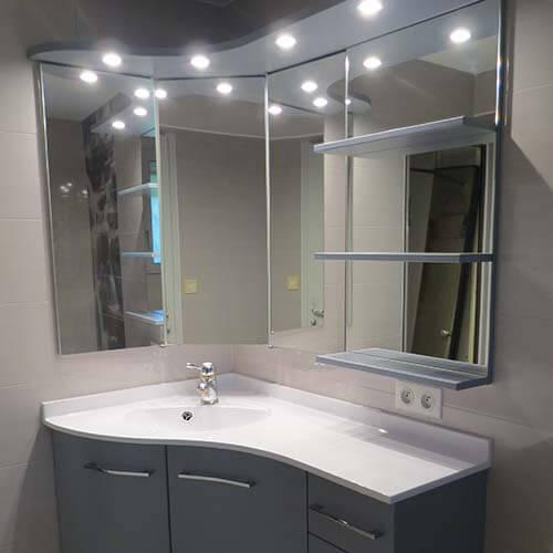 meuble de salle de bain d angle