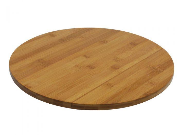 plateau tournant bois