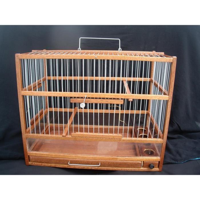 cage oiseau bois