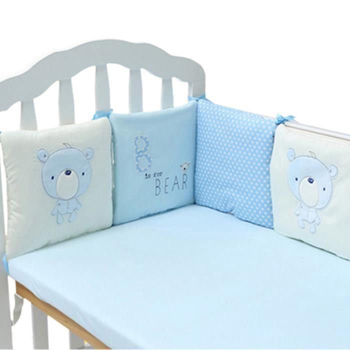 tour de lit bébé bleu